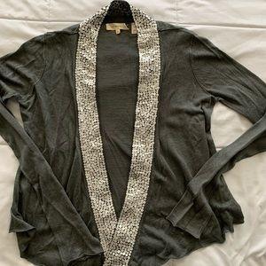 Inhabit sequined linen cardigan